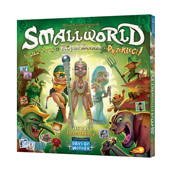 Small World: Zestaw dodatków 2 - Wielkie damy + Royal Bonus + Przeklęci!